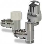 Luxor KT 259/A Термостатический комплект 1/2-3/4 EK угловой (RS259/A+DS79/A+TT3000C), хром