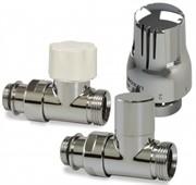 Luxor KT 258/A Термостатический комплект 1/2-3/4 EK прямой (RD258/A+DD78/A+TT3000C), хром