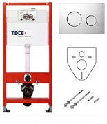 TECEbase комплект застенного модуля с панелью смыва TECEloop, пластик, хром глянцевый