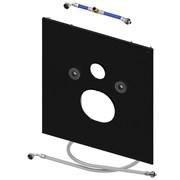 Нижняя панель TECElux для установки унитаза с крышкой биде, стекло черное ( 9650107 )