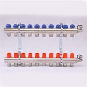 Распределительный коллектор отопления UNI-FITT 1'х3/4' 10 вых с регулировочными и термостатическими вентилями ( 32315N060510 )