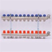 Распределительный коллектор отопления UNI-FITT 1'х3/4' 11 вых с регулировочными и термостатическими вентилями ( 32315N060511 )