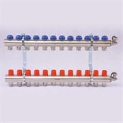 Распределительный коллектор отопления UNI-FITT 1'х3/4' 12 вых с регулировочными и термостатическими вентилями ( 32315N060512 )