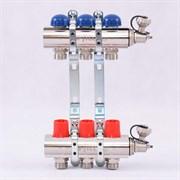 Распределительный коллектор отопления UNI-FITT 1'х3/4' 3 вых с регулировочными и термостатическими вентилями ( 32315N060503 )