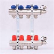 Распределительный коллектор отопления UNI-FITT 1'х3/4' 5 вых с регулировочными и термостатическими вентилями ( 32315N060505 )
