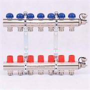 Распределительный коллектор отопления UNI-FITT 1'х3/4' 7 вых с регулировочными и термостатическими вентилями ( 32315N060507 )