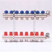 Распределительный коллектор отопления UNI-FITT 1'х3/4' 8 вых с регулировочными и термостатическими вентилями ( 32315N060508 )