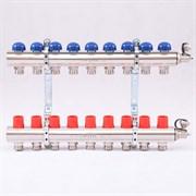 Распределительный коллектор отопления UNI-FITT 1'х3/4' 9 вых с регулировочными и термостатическими вентилями ( 32315N060509 )