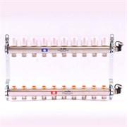 Распределительный коллектор отопления UNI-FITT 1'х3/4' 10 вых с регулировочными и термостатическими вентилями, нерж. сталь ( 32315S060510 )