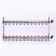 Распределительный коллектор отопления UNI-FITT 1'х3/4' 12 вых с регулировочными и термостатическими вентилями, нерж. сталь ( 32315S060512 )