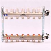 Распределительный коллектор отопления UNI-FITT 1'х3/4' 7 вых с регулировочными и термостатическими вентилями, нерж. сталь ( 32315S060507 )