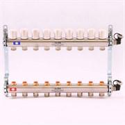 Распределительный коллектор отопления UNI-FITT 1'х3/4' 9 вых с регулировочными и термостатическими вентилями, нерж. сталь ( 32315S060509 )