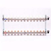 Распределительный коллектор отопления UNI-FITT 1'х3/4' 13 вых с регулировочными и термостатическими вентилями, нерж. сталь ( 32315S060513 )