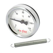 Термометр UNI-FITT накладной 120С, диаметр 63 мм, с пружиной ( 320P4030 )