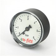 """UNI-FITT Манометр аксиальный UNI-FITT 10 бар, диаметр 50 мм, 1/4""""Н ( 300P3020 )"""