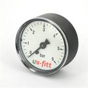 """UNI-FITT Манометр аксиальный UNI-FITT 10 бар, диаметр 63 мм, 1/4""""Н ( 300P3030 )"""