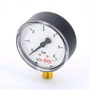 """UNI-FITT Манометр радиальный UNI-FITT 10 бар, диаметр 63 мм, 1/4""""Н ( 301P3030 )"""