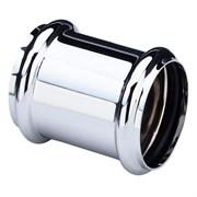 Муфта Viega 32 хром.латунь, с двумя уплотнительными кольцами ( 102371 )