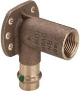 Водорозетка Viega пресс-В 15х1/2' удлиненная (l=45мм) бронза Sanpress SC-Contur ( 116552 )