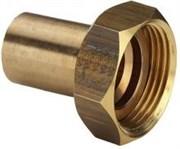 Вставка Viega 22х1' с накидной гайкой и плоской прокладкой, бронза Sanpress ( 338527 )